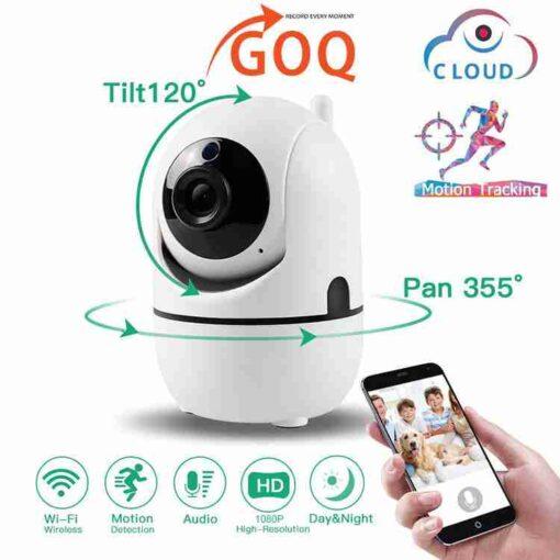 Wifi Wireless Indoor CCTV Camera 360 Rotatable Auto Tracking 2MP 1080P PTZ / Audio / Video