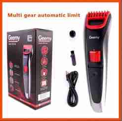 Geemy Professional Rechargable Adjustable Hair & Beard Trimmer / Clipper GM-6166X