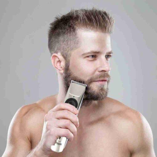 Vgr V 031 m quina de cortar cabelo el trica 0 21mm fine tuning aparador de 1