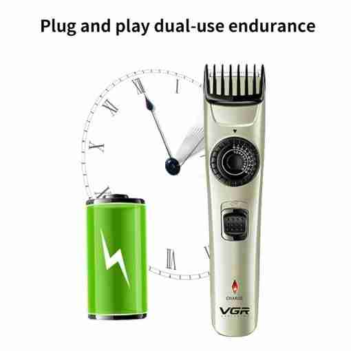 Vgr V 031 m quina de cortar cabelo el trica 0 21mm fine tuning aparador de 3