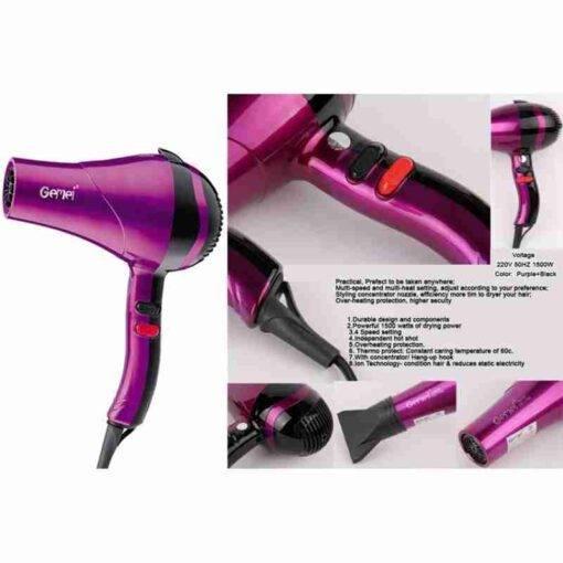 Gemei GM-1704 Professional Hair Dryer 1500W