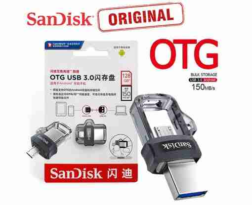 128GB SanDisk Ultra Dual Drive 3.0 Flash Drive Micro USB 3.0 OTG Pendrive OTG Pendrive