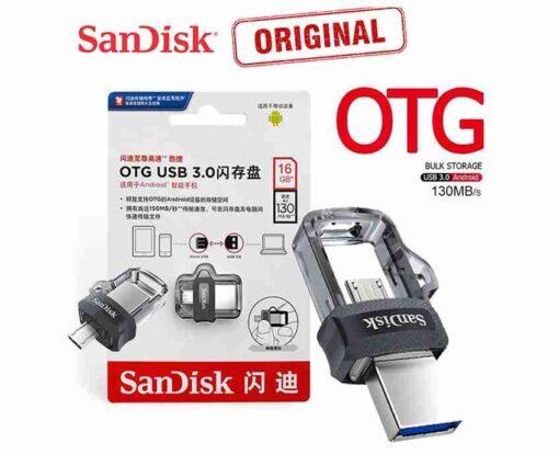 16GB SanDisk Ultra Dual USB 3.0 OTG Pen Drive / Micro USB OTG
