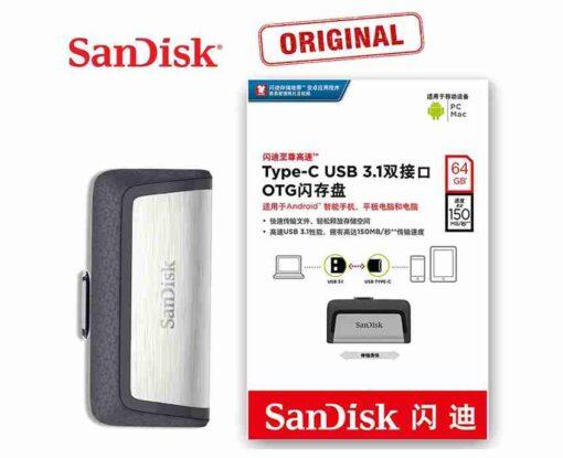 64GB Sandisk USB Type-C Pendrive USB OTG Pen drive Type C Flash Drive Dual OTG Pendrive