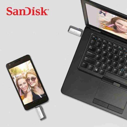 Movimenta o ultra dupla de sandisk com o disco flash 32 gb 64 gb 3 1 3 1
